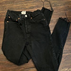 Black free people high waisted jeans-size 25